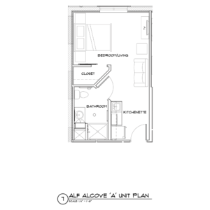Assisted Living alcove A floor plan