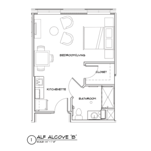 Assisted Living alcove B floor plan