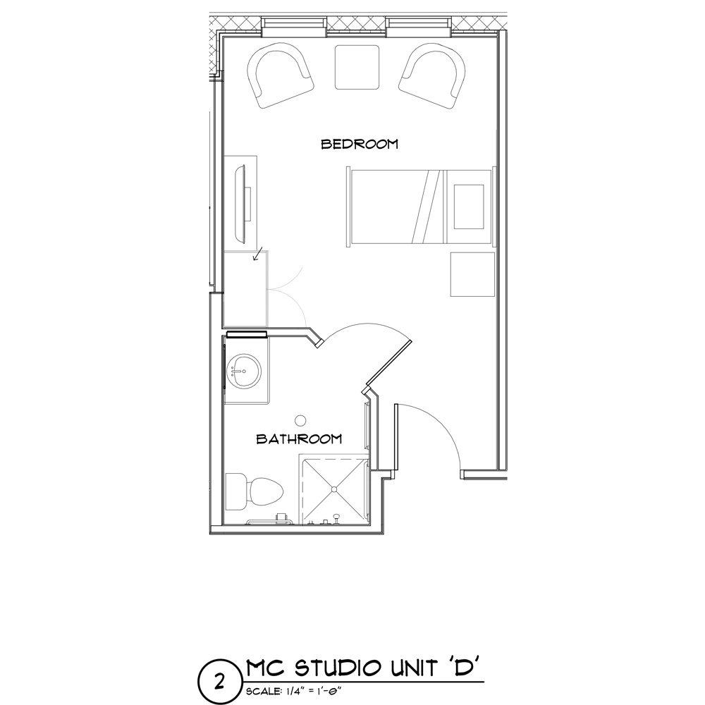Memory Care Studio floor plan